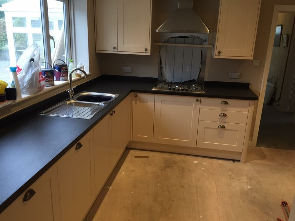 Kitchen refurbishment after fire