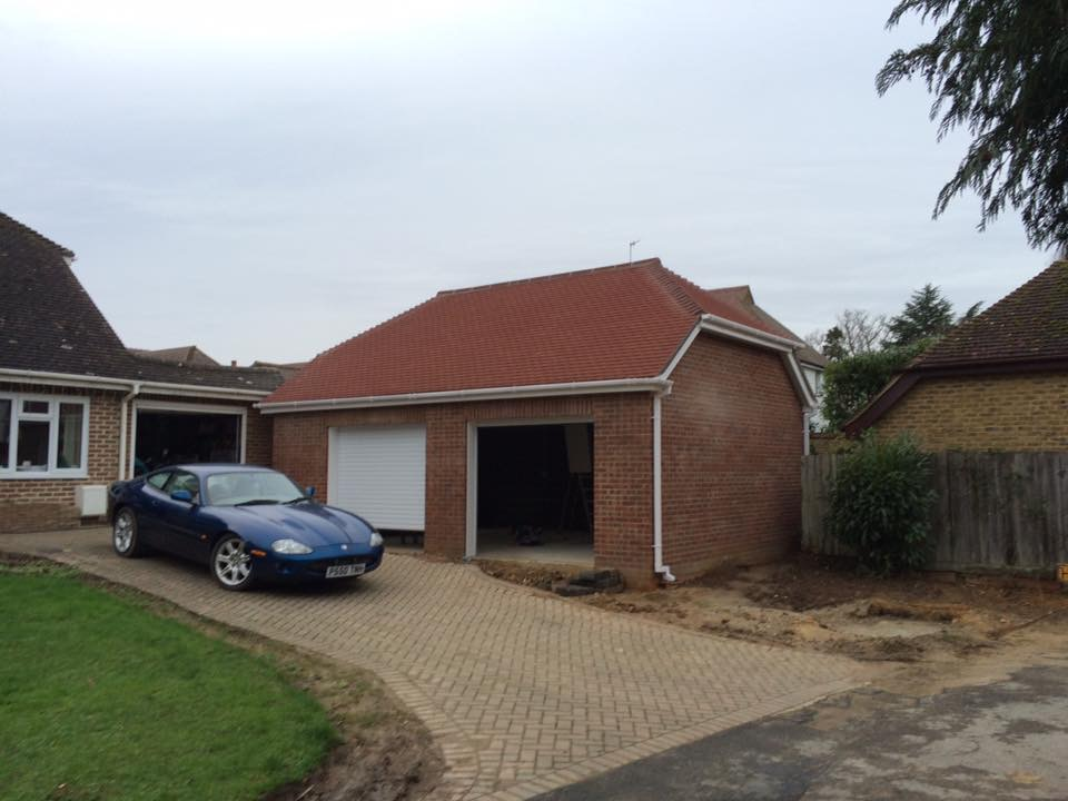 double garage build